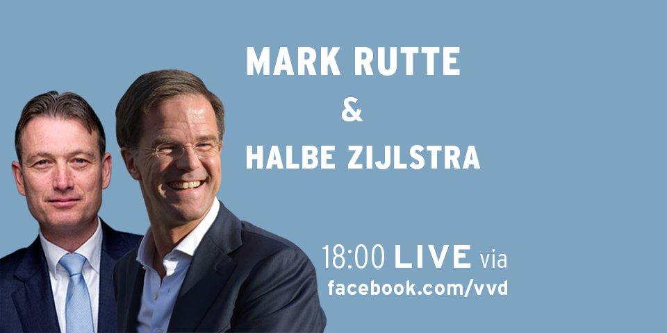 Vanavond praat ik je graag bij over de formatie. Stel LIVE je vragen aan mij en Halbe Zijlstra om 18:00 op http://facebook.com/VVD.