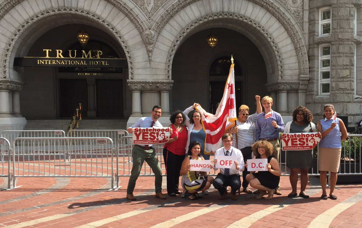 The #Ward1 Council office took a field trip for our #DCFlagDay group photo. #DCstatehood #HandsOffDC<br>http://pic.twitter.com/ejpbt047iO