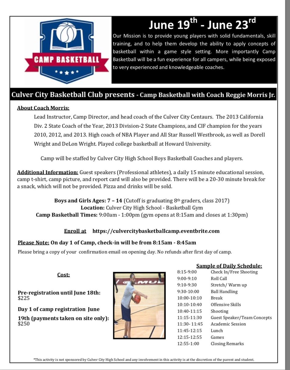 If your in la , make sure you come and check out this camp. Great camp .