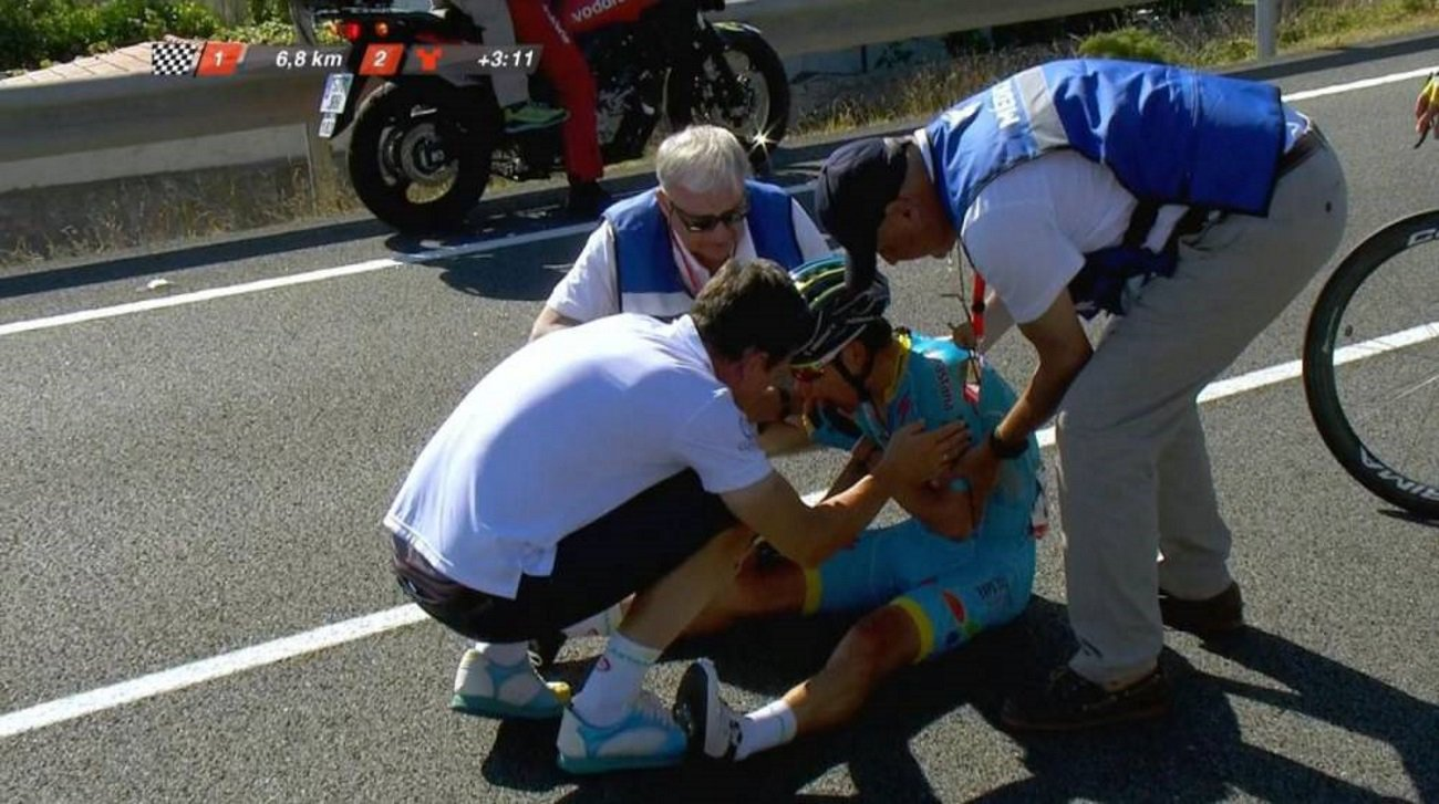 Miguel Ángel López se retira del Tour de Suiza tras fuerte caída
