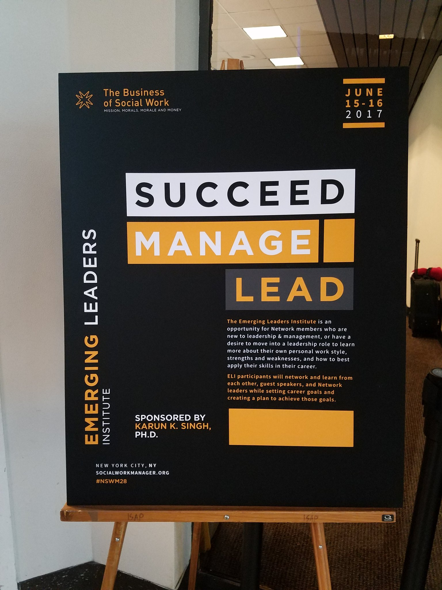 @TheNSWM Emerging #Leader Institute started this morning and is off to a great start! #nswm28 #management #Socialworkerslead https://t.co/rjjKvetsgk
