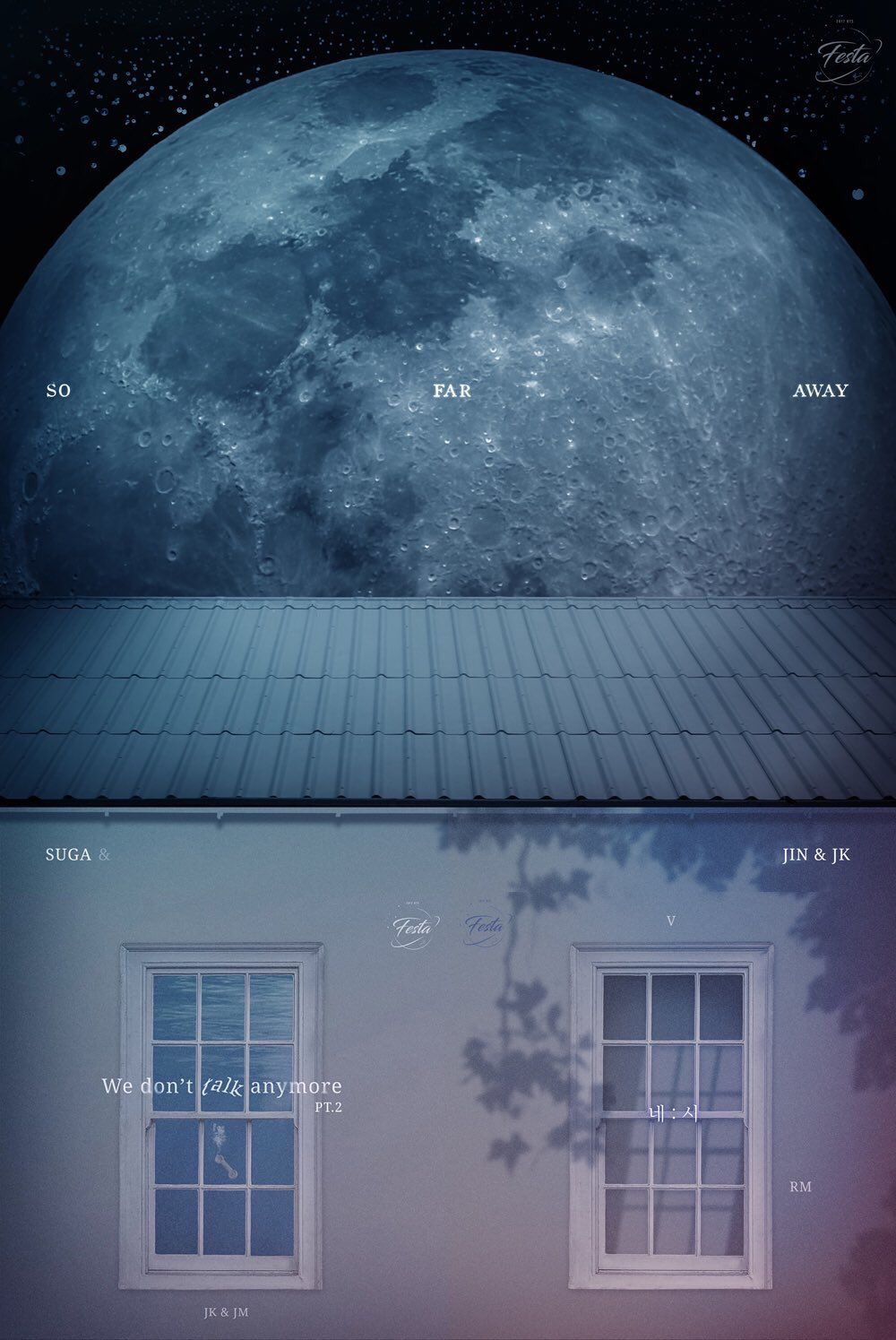 ARMY Bombs as stars behind the moon ㅠㅠㅠㅠㅠ We'll forever be the stars in your galaxy �� @BTS_twt https://t.co/fMBO0d7Ykr
