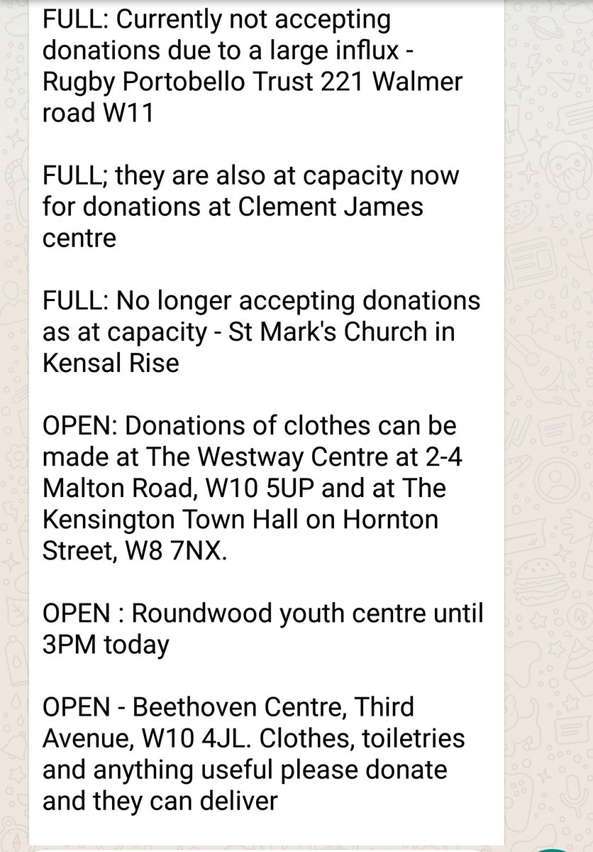 **UPDATE ON OPEN/CLOSED #GlenfellTower LOCATIONS** Please RT for anyone hoping to head down today ❤ https://t.co/YbaIfcuXa7