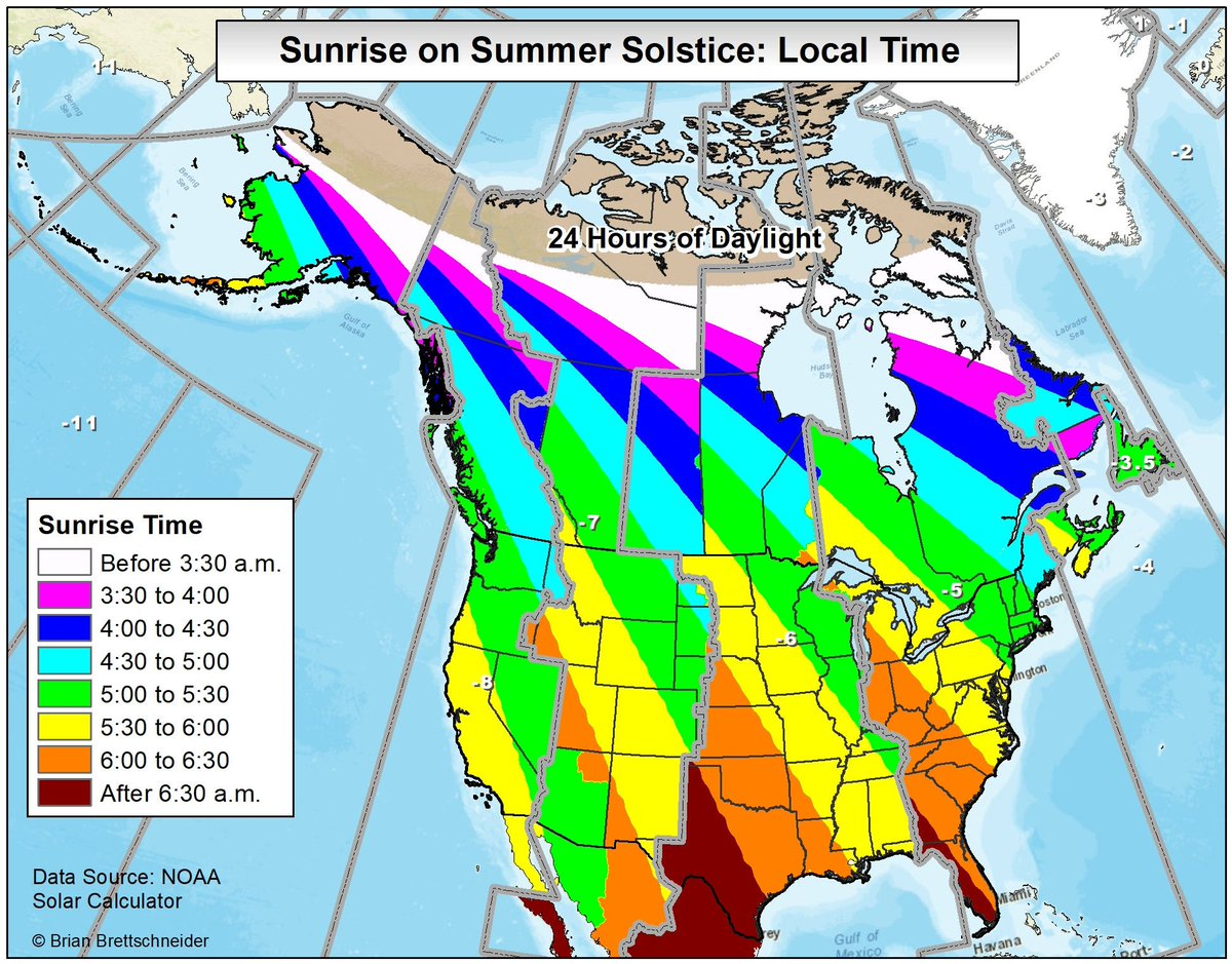 Brian Brettschneider On Twitter Sunrise Time Sunset Time And - Solar calculator map