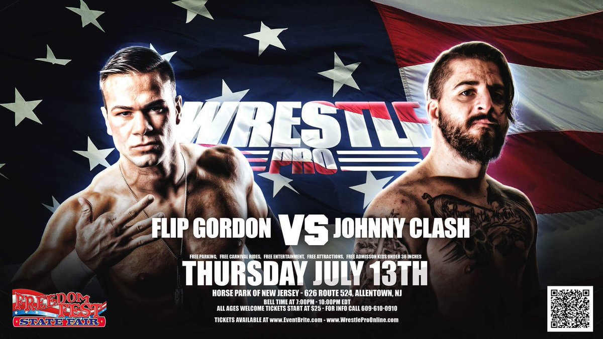 WrestlePro On Twitter Match Announcement For July 13th Flip