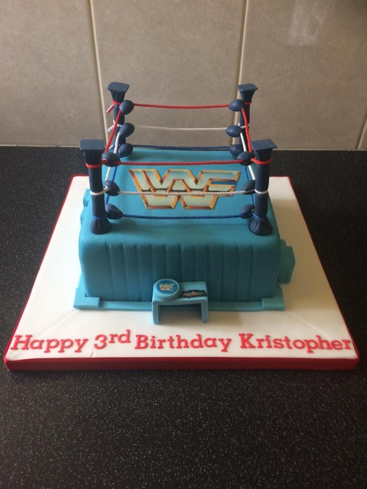 Custom Figures On Twitter Wwf Hasbro Themed Wrestling Ring Cake