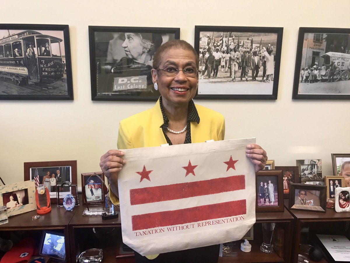 Thank you to my staff for the perfect birthday gift yesterday—just in time for #DCFlagDay! #TaxationWithoutRepresentation #DCStatehood<br>http://pic.twitter.com/p3c6BkdK1Z