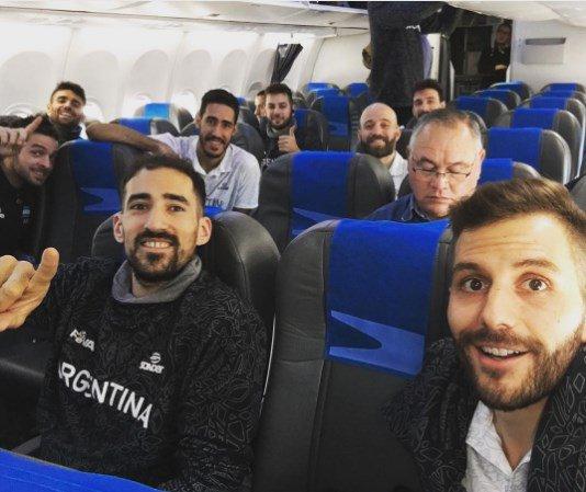 Argentina en el avión