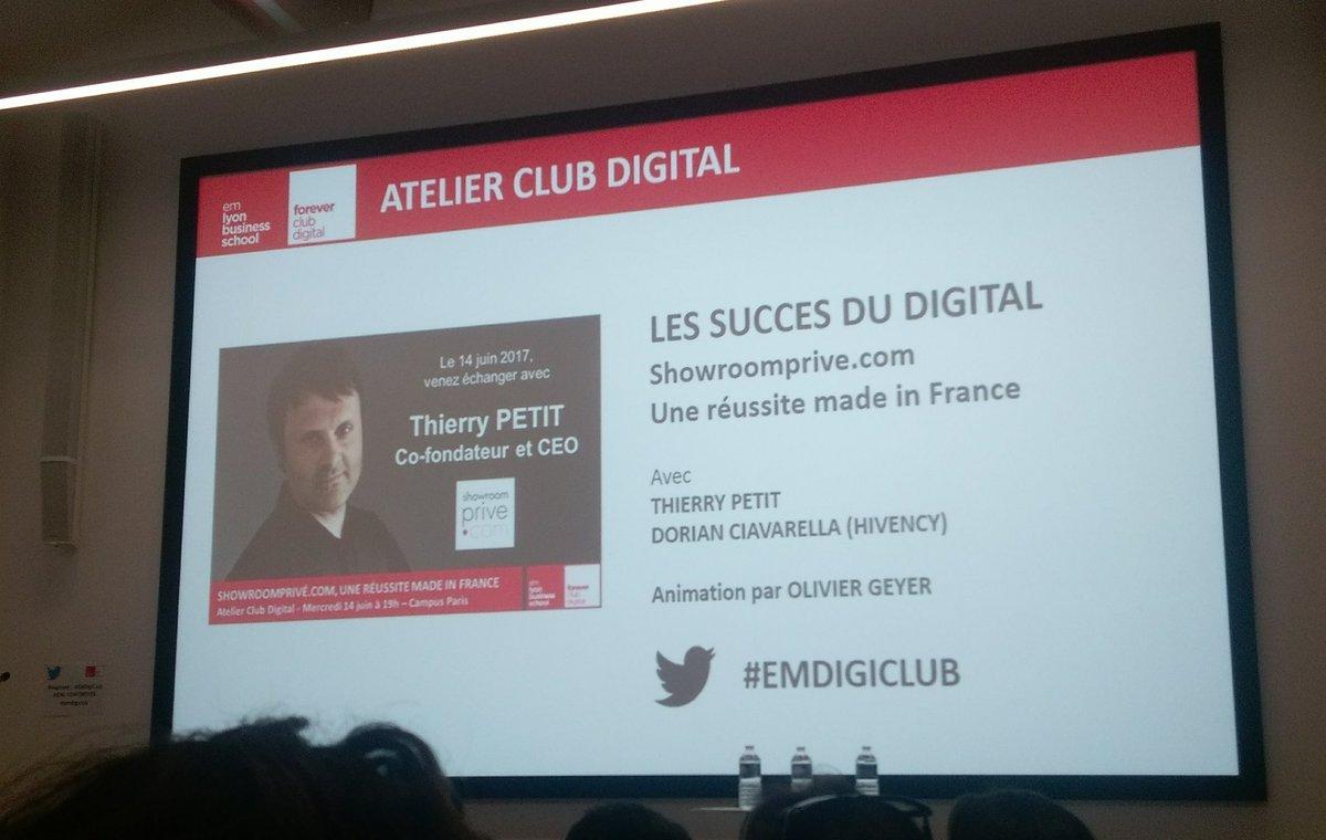 Atelier Digital #EMDigiclub sur la success Story de #ShowroomPrive. #Passionnant @EMLYONFOREVER<br>http://pic.twitter.com/uNQ4xVFndd