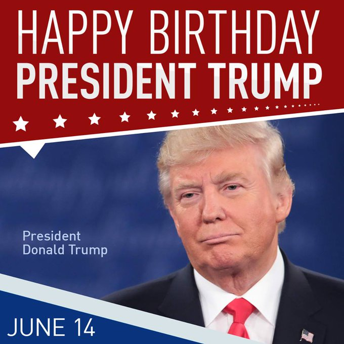 Happy 71st Birthday to President Donald Trump!