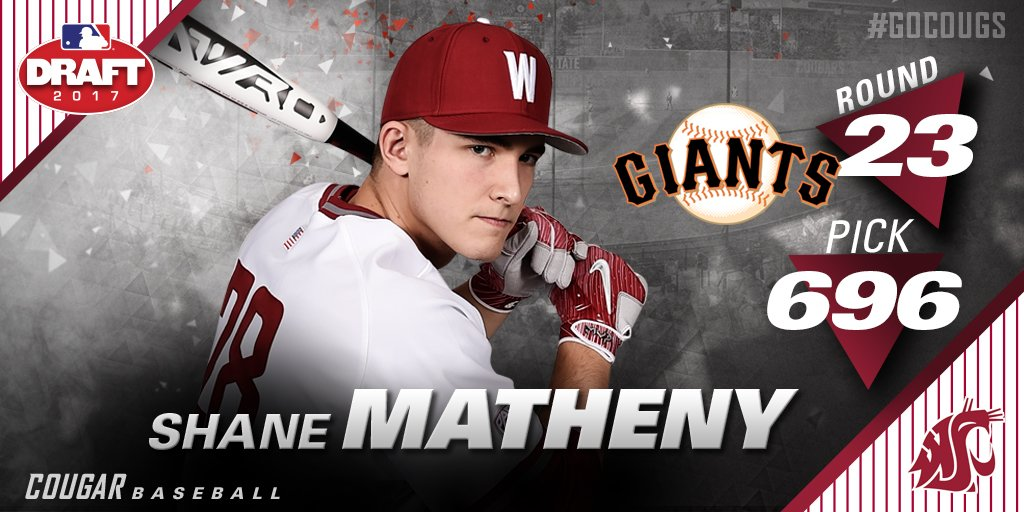 Congrats Shane Matheny who was selected by the @SFGiants in the 23rd round of the MLB Draft! #GoCougs https://t.co/SxYgEH9tZ5