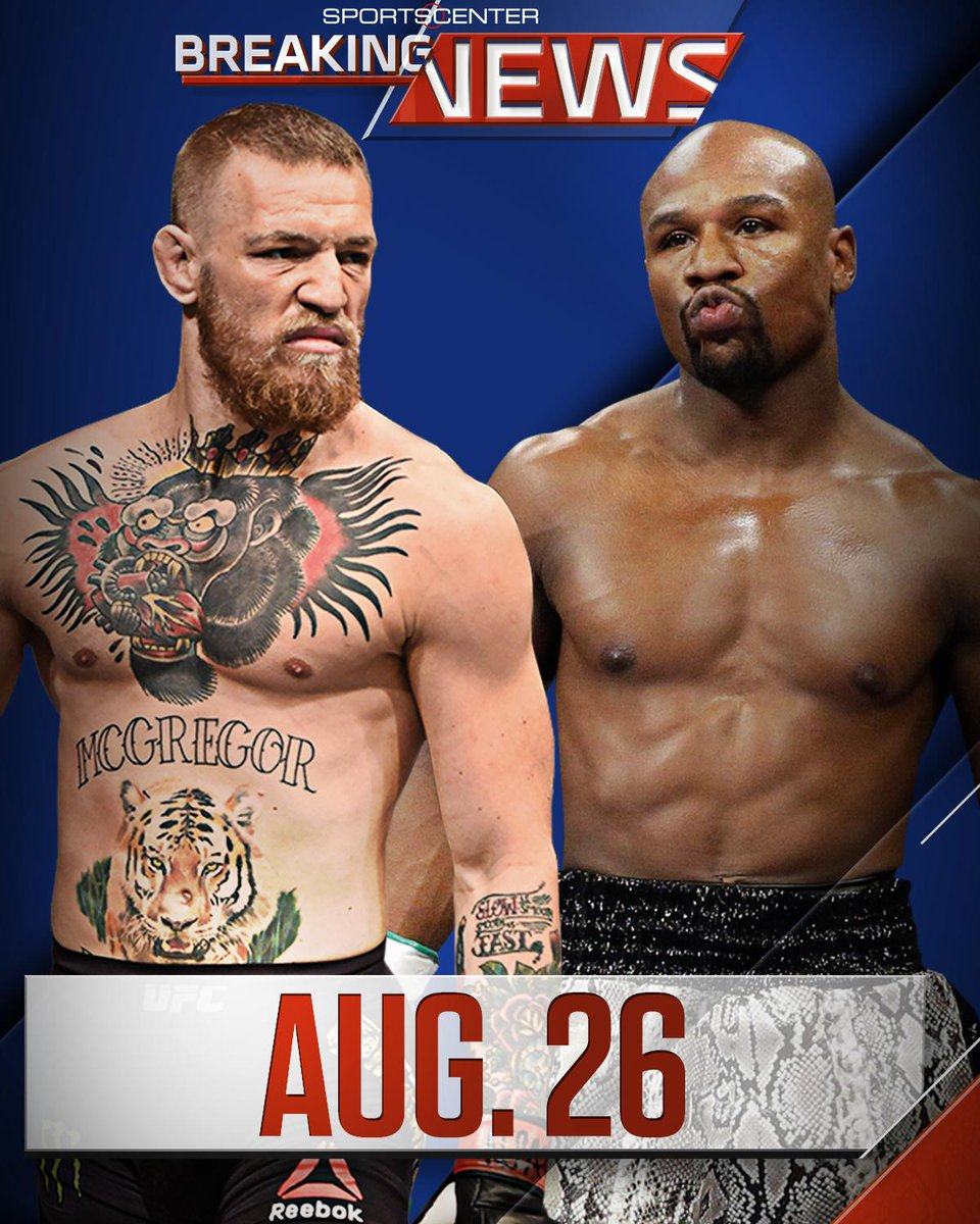 Breaking: The Floyd Mayweather vs. Conor McGregor fight is official and will be held at the MGM Grand in Las Vegas on Aug. 26.