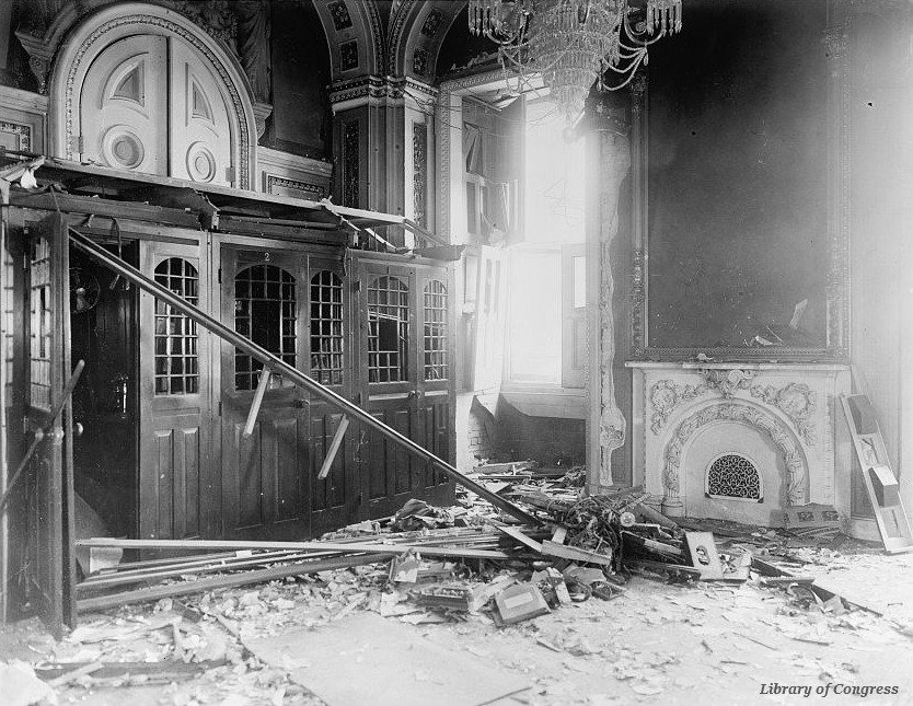 A bomb destroyed the #Senate Reception Room in the @uscapitol #OTD in 1915 https://t.co/VMNw6Uf3i6 https://t.co/BtWGgsdi3Z