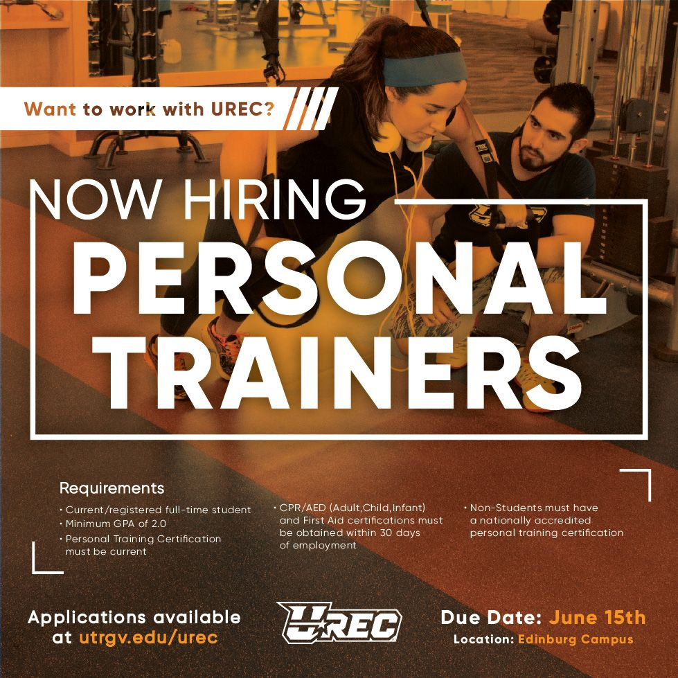 Utrgv urec on twitter we are now hiring personal trainers at our utrgv urec on twitter we are now hiring personal trainers at our edinburg facility check out the requirements and apply today xflitez Image collections