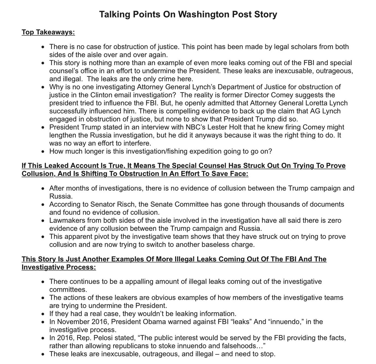 A source sent me RNC/Trump talking points for Repubs seeking to discredit tonight's WaPo scoop on Mueller investigating Trump obstruction —>