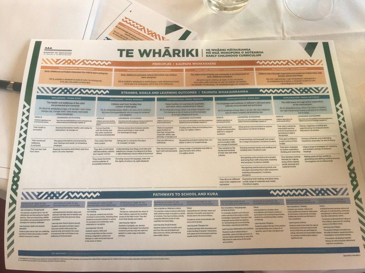 te whariki strands and goals