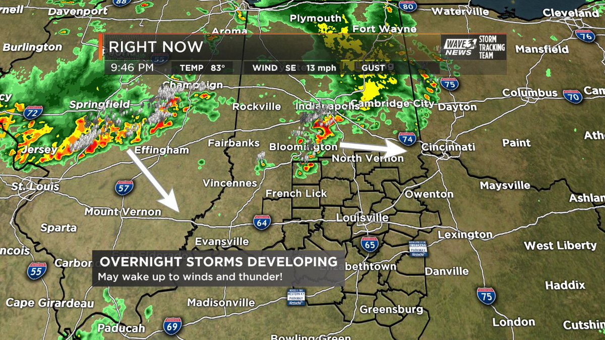 Overnight storms are developing in IL with a few already in Central IN...