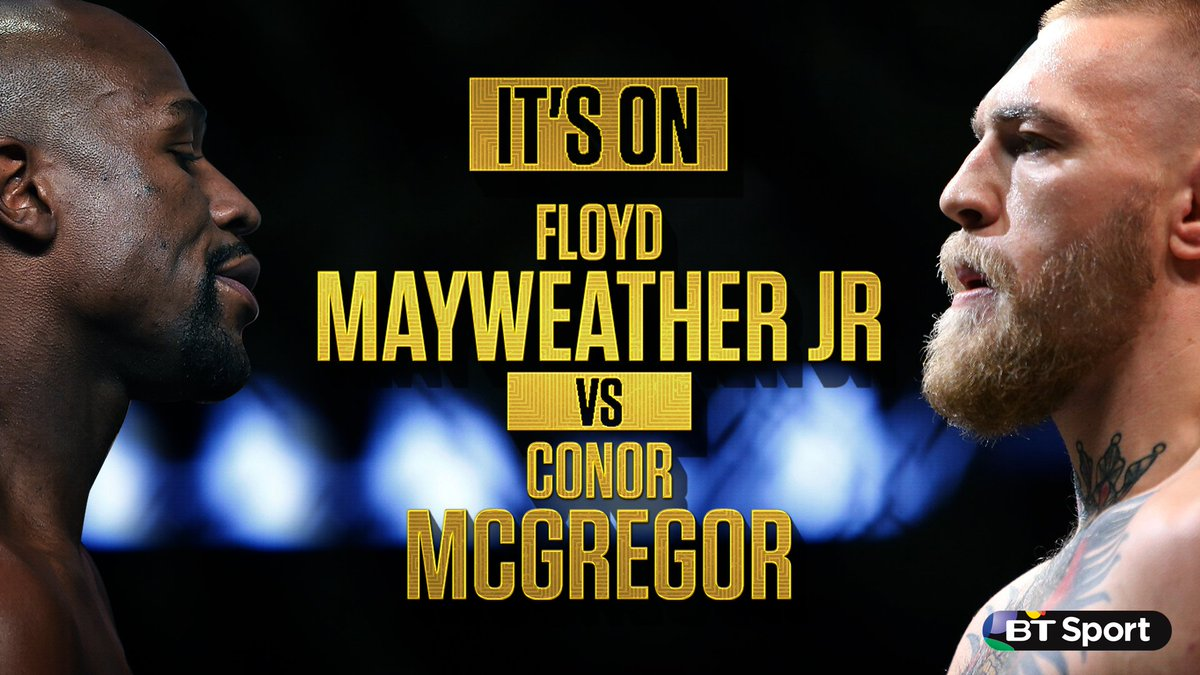IT'S OFFICIAL FIGHT FANS!  💪 MMA vs. Boxing 🥊 🏆 Champ vs. Champ 🏆 🇮🇪 McGregor vs. Mayweather 🇺🇸  26th August, 2017. Las Vegas, Nevada.