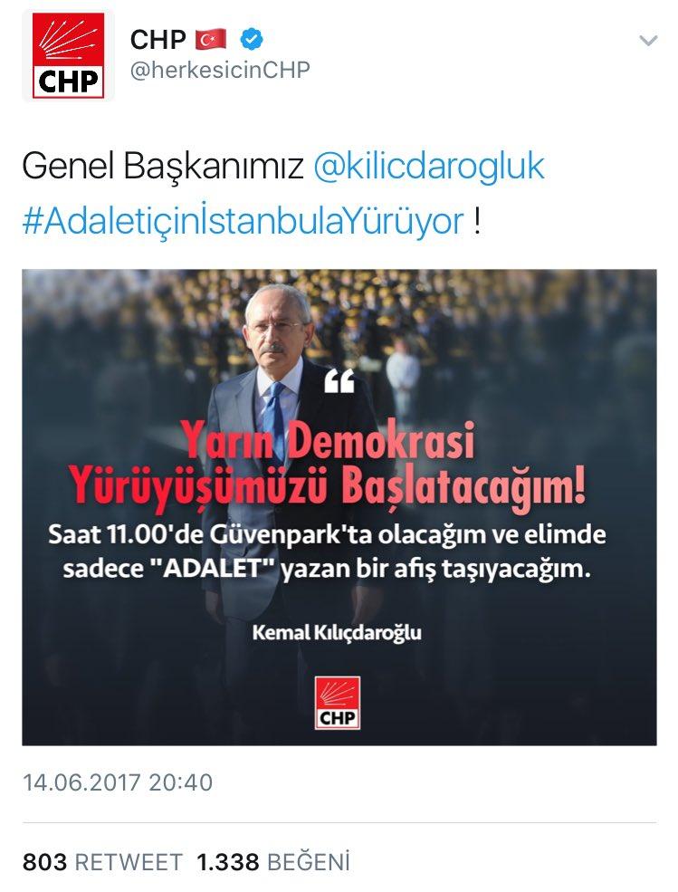 Burada @herkesicinCHP  darbe çığırtkanlığı yapıyor  HDP ile iş birliği yap,istihbaratı ifşa et,subay resmî kullan #AdaletiçinİstanbulaYürüyor