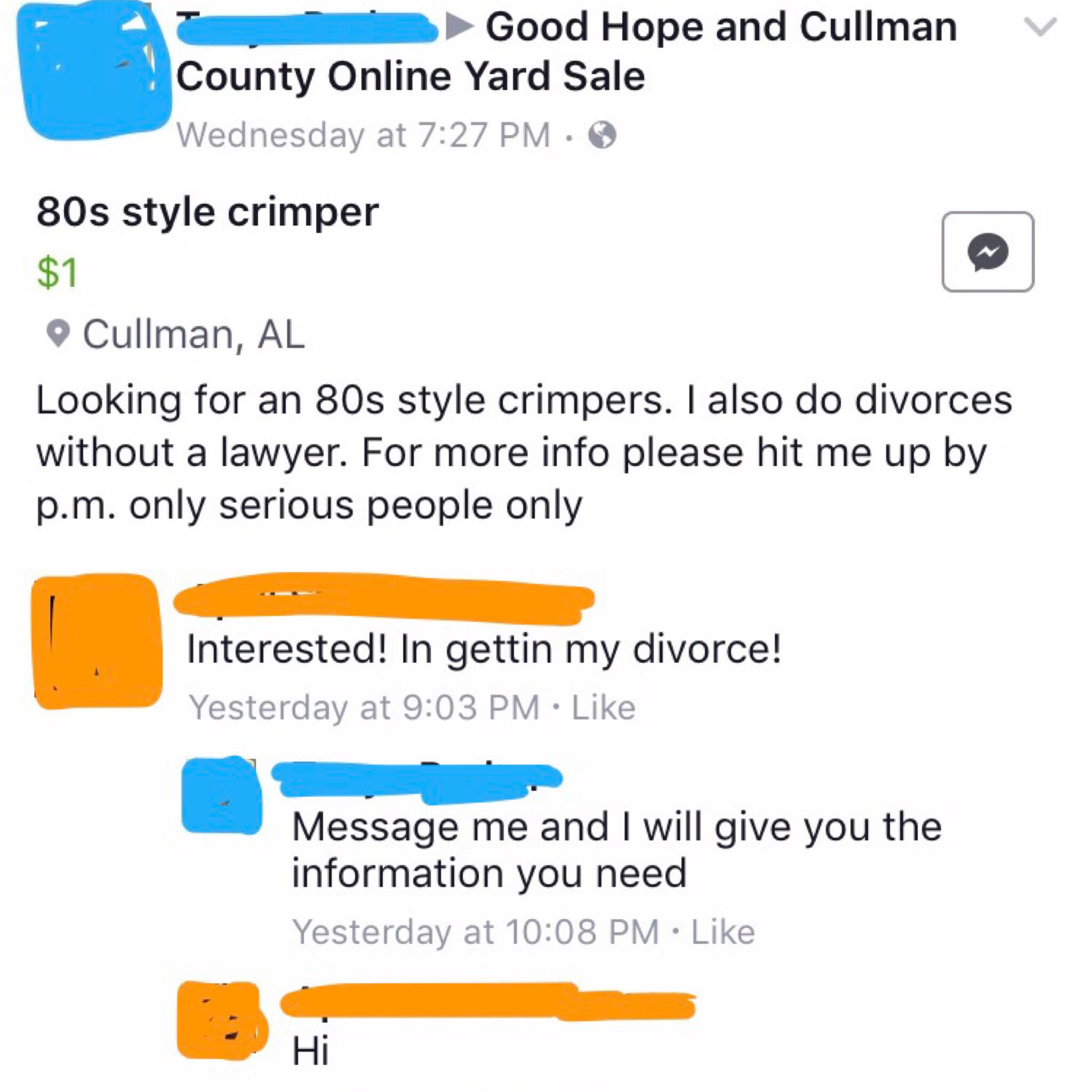 For that cullman online yard sale apologise, but