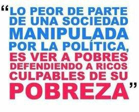 Resultado de imagen para LA SOCIEDAD MANIPULADA POR LA POLITICA
