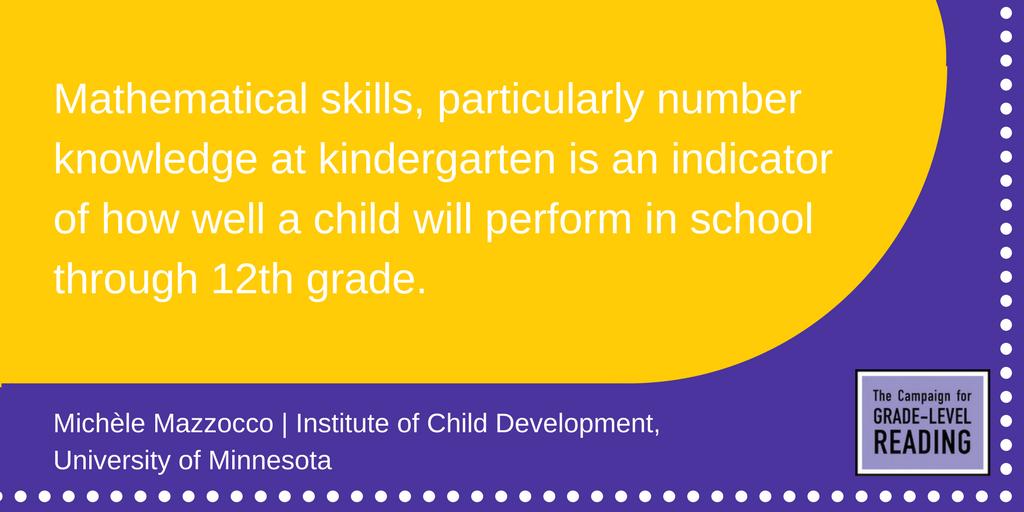 Mathematical skills of children in kindergarten are a key indicator of their future academic success. #GLRWeek https://t.co/JUgNbP0wyi