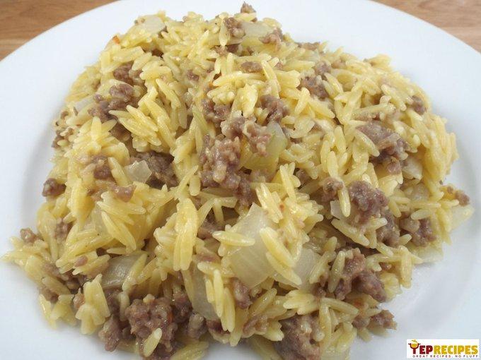 Italian Sausage and Parmesan Orzo