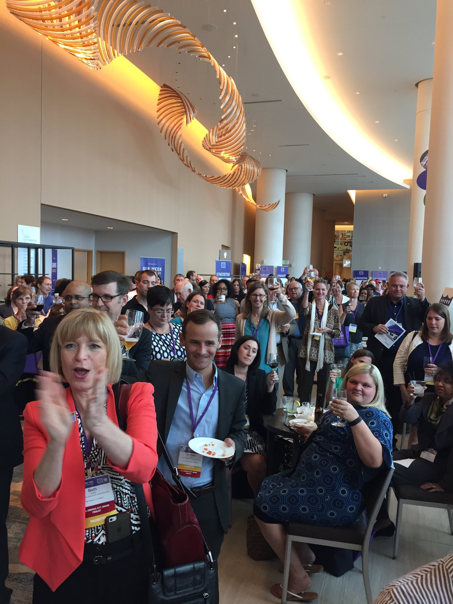 Raise your glass to @DebraMJacobs for all of her contributions to the Funder Huddle. #GLRWeek https://t.co/AdZjxjweaq