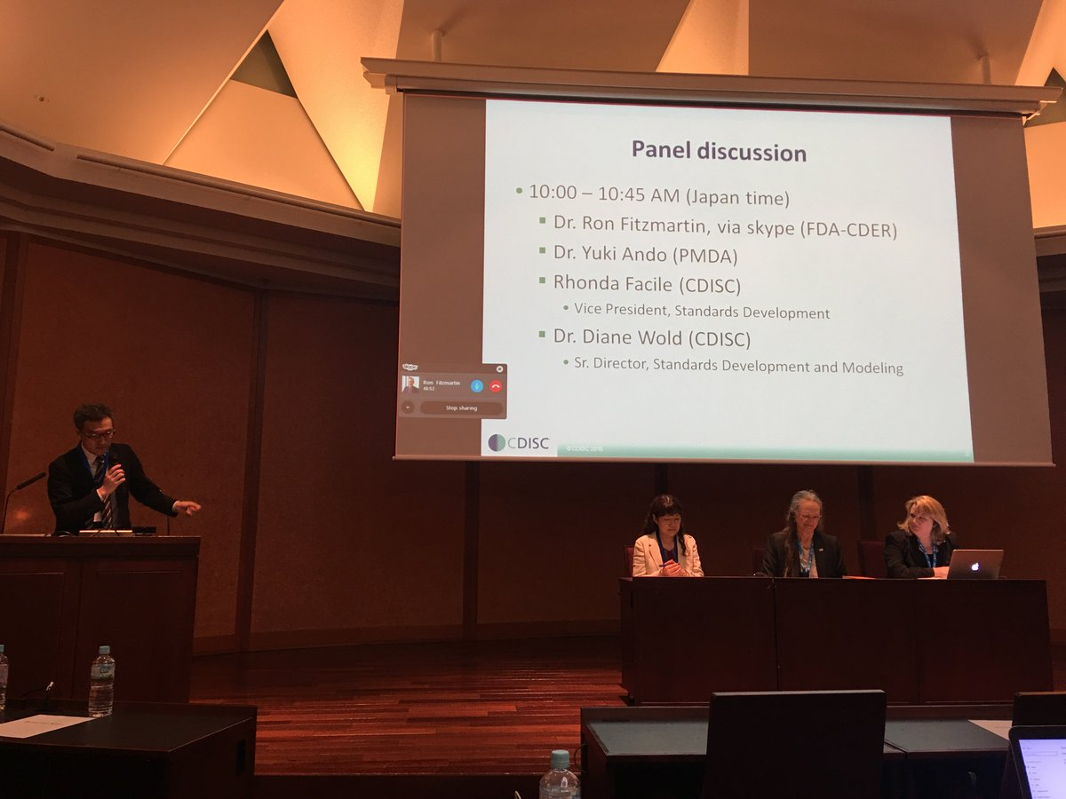 Panel discussion with #PMDA, #FDA &amp; @CDISC #CDISCJapan<br>http://pic.twitter.com/CXrIixBElo