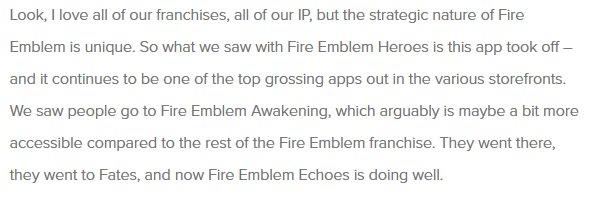 fire emblem buzz on twitter words from reggie fils aimé regarding
