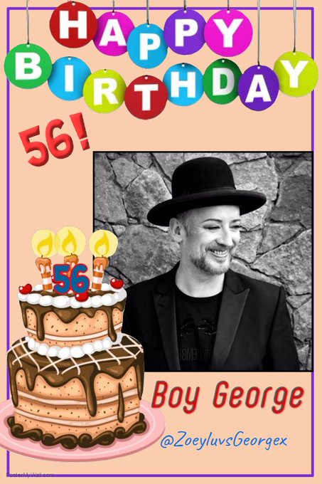 Happy 56th Birthday to the 80\s icon, Boy George!!