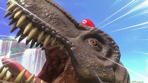 "We asked Miyamoto if a Mario-possessed T-rex can ride Yoshi: ""It's too much stress on Yoshi. Please don't do that.""  https://t.co/e7f4jBJ4j0"