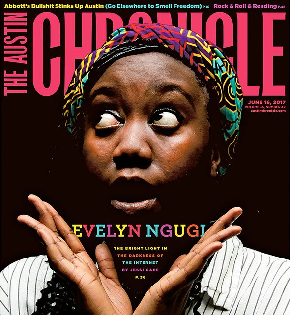 Cover girl Evelyn Ngugi (aka @EVEEEEEZY) is a beacon of light on the dark side of the web. https://t.co/mK24uRC5X3 https://t.co/XDGu4QNpIC