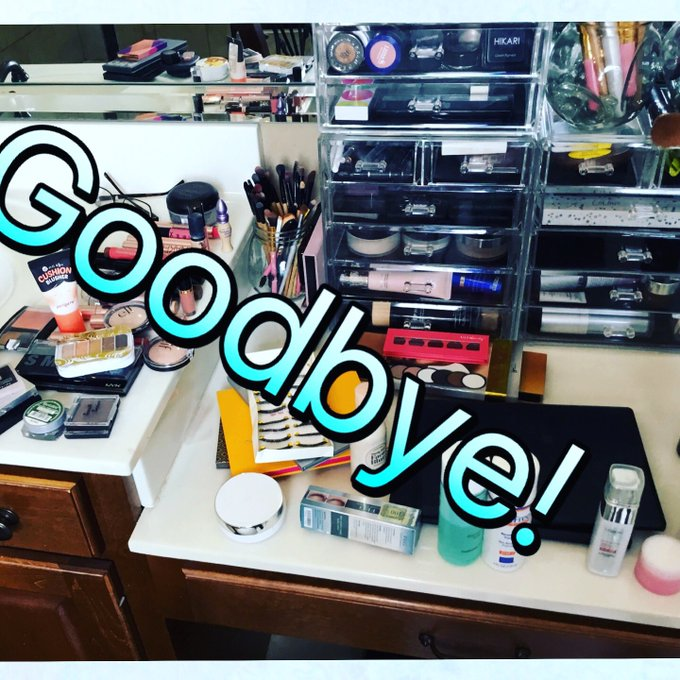 Goodbyes/declutter/makeup collection