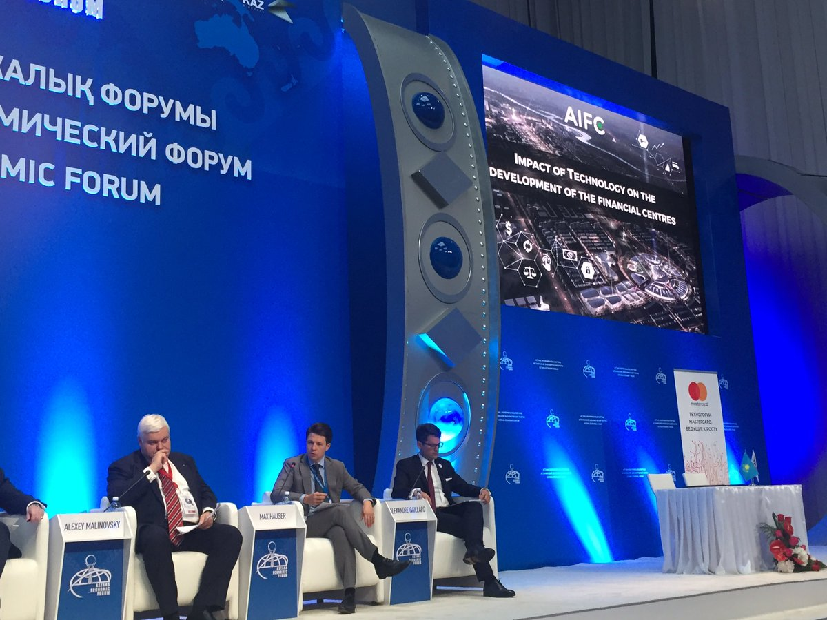 Not too many people at the #astanaeconomicforum this year, but good discussion at our #fintech session anyway!<br>http://pic.twitter.com/2MKwB3Cok5
