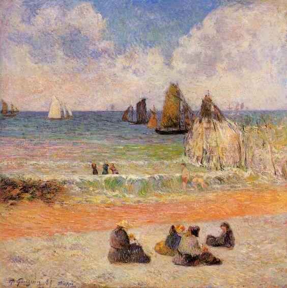 RT @baronaite404  Bathing, #Dieppe - Paul #Gauguin #peinture  <br>http://pic.twitter.com/o0TBZ3pwzX