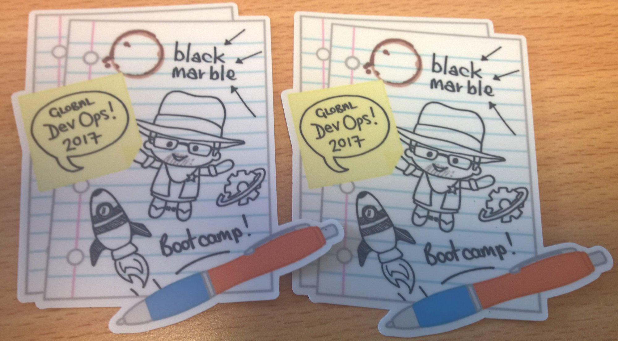 Got some great Global #DevOps Bootcamp stickers for Saturday! #gdbc! Featuring our own #ALMRanger @gdevopsbc https://t.co/3nnehKqM3M