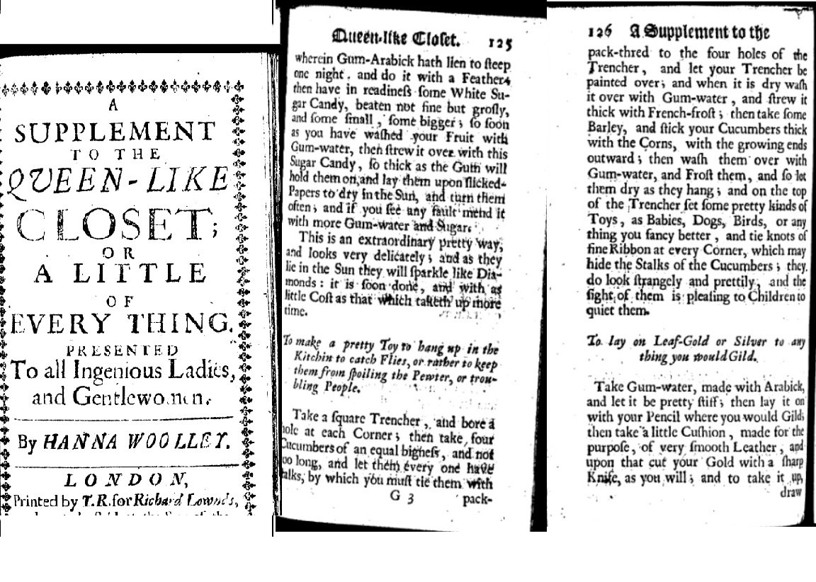 In the 1st class, we set the scene by looking at instructions for a 'toy' in Hannah Woolley's 1674 book: was *this* a recipe? #recipesconf https://t.co/gRRW01yYT8