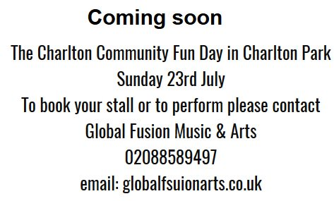 Calling for #StallHolders #Performers 4 Charlton Community Fun Day Sun 23rd July #GreenwichHour