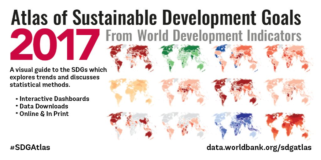 Explore the @WorldBank  Atlas of SDGs — a visual guide to #opendata and global development: https://t.co/Nyv2j1kM2c #SDGAtlas #WDI2017 #SDG6 https://t.co/dKc9B3WqPo