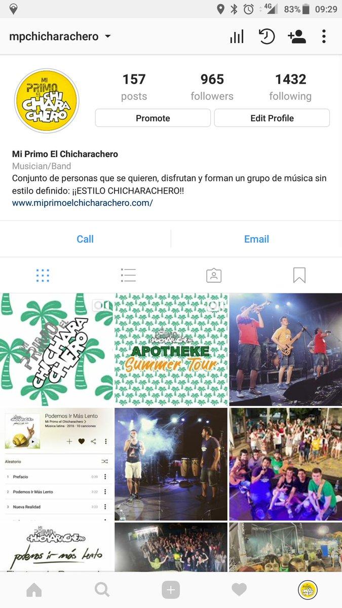Esta noche atento a nuestro Instagram que haremos un directo para charlar con todos vosotros! instagram.com/mpchicharachero