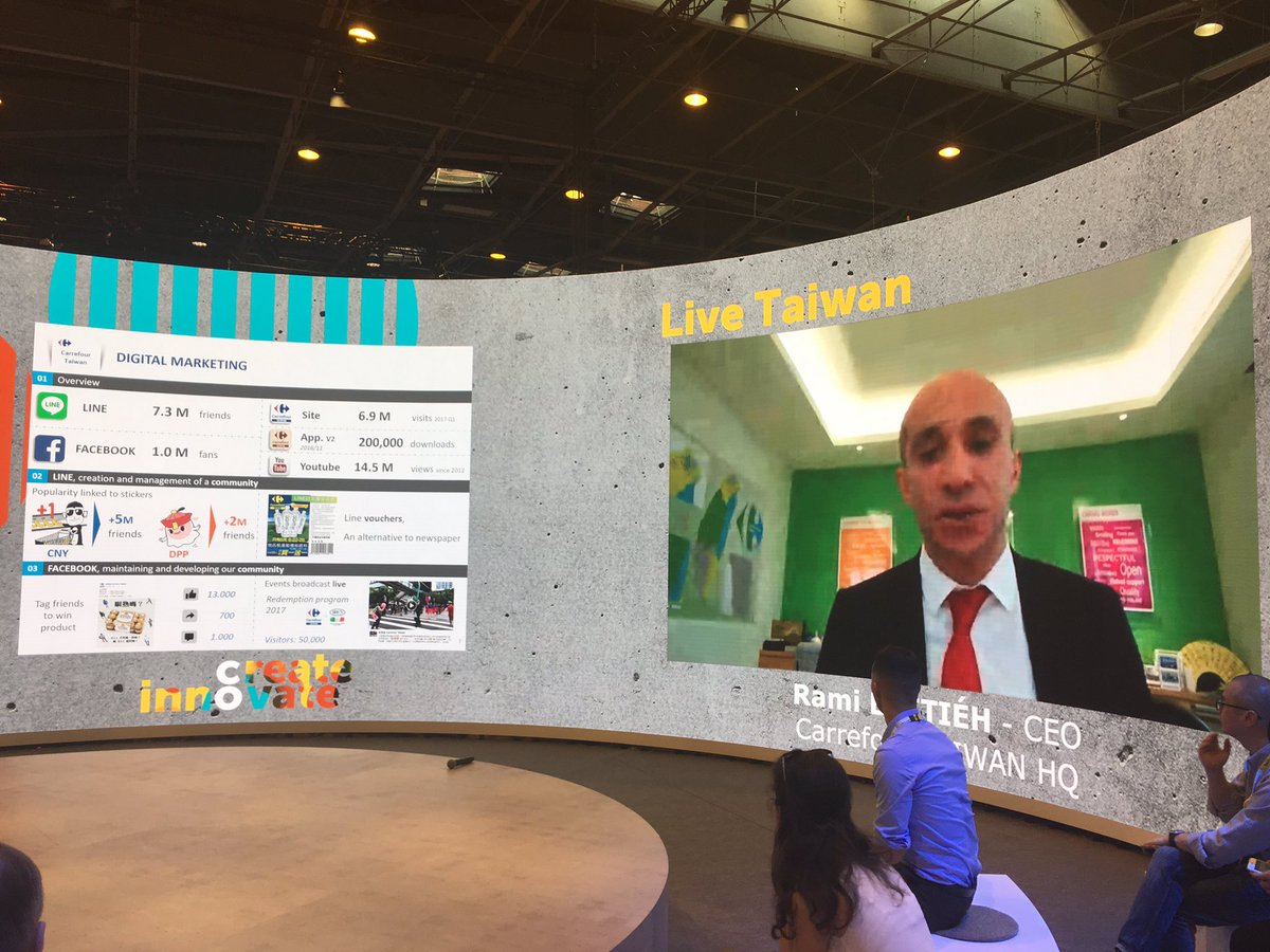 Live from #Carrefour Taïwan CEO to talk about #innovation in Asia ! @GroupeCarrefour @VivaTech<br>http://pic.twitter.com/CaI09SgmY4