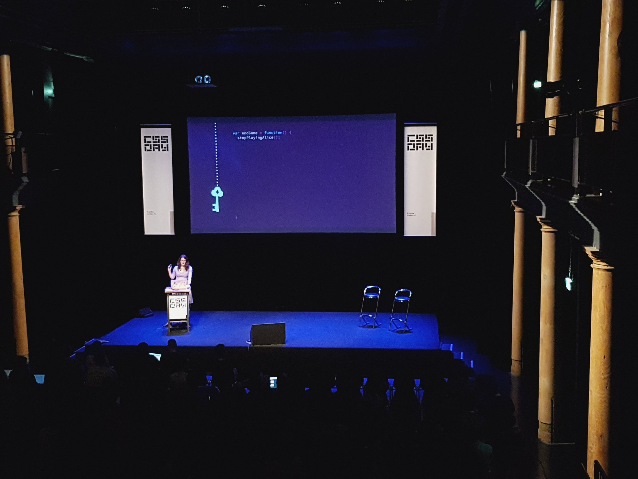 .@rachelnabors taking us down the rabbit hole of the Web Animations API. Very interesting! https://t.co/OhXUARlKyK