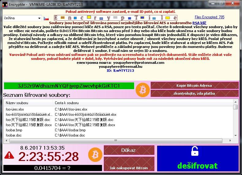 cryptolocker bitcoin adresas