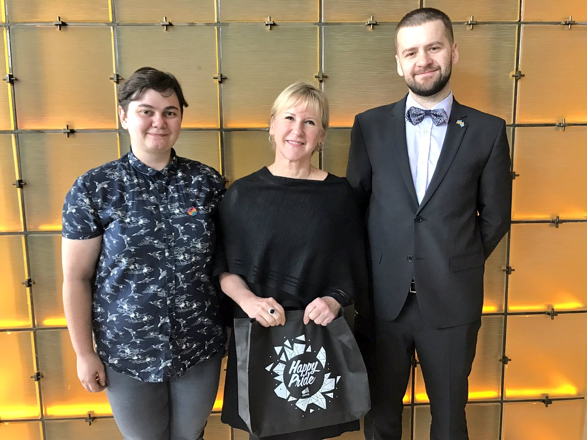 Meeting the organisers of @KyivPride2017. Impressed by their important work. Full support from Sweden! #PrideMonth