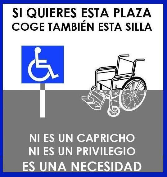 #FelizJueves a todos menos a a l@s list@s que aparcan en plazas para personas con discapacidad Ponte en su lugar, no en su sitio Photo