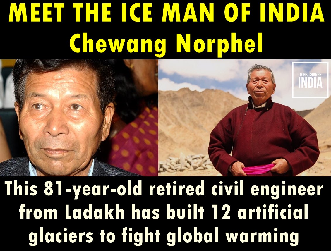 Read his incredible story here -  https:// yourstory.com/2016/10/chewan g-norphel/ &nbsp; …  #IncredibleIndia #Inspiration #Engineers #socialentrepreneurship <br>http://pic.twitter.com/41EB6EeEXF