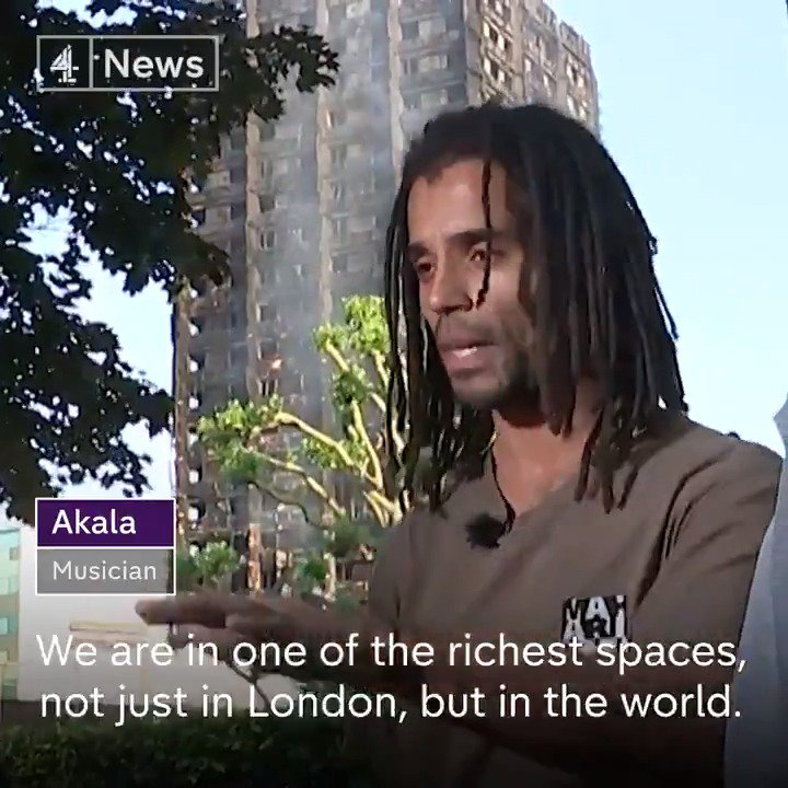 """""""The people who died and lost their homes, this happened to them because they are poor"""": @akalamusic #GrenfellTower https://t.co/QlawAfABH0"""