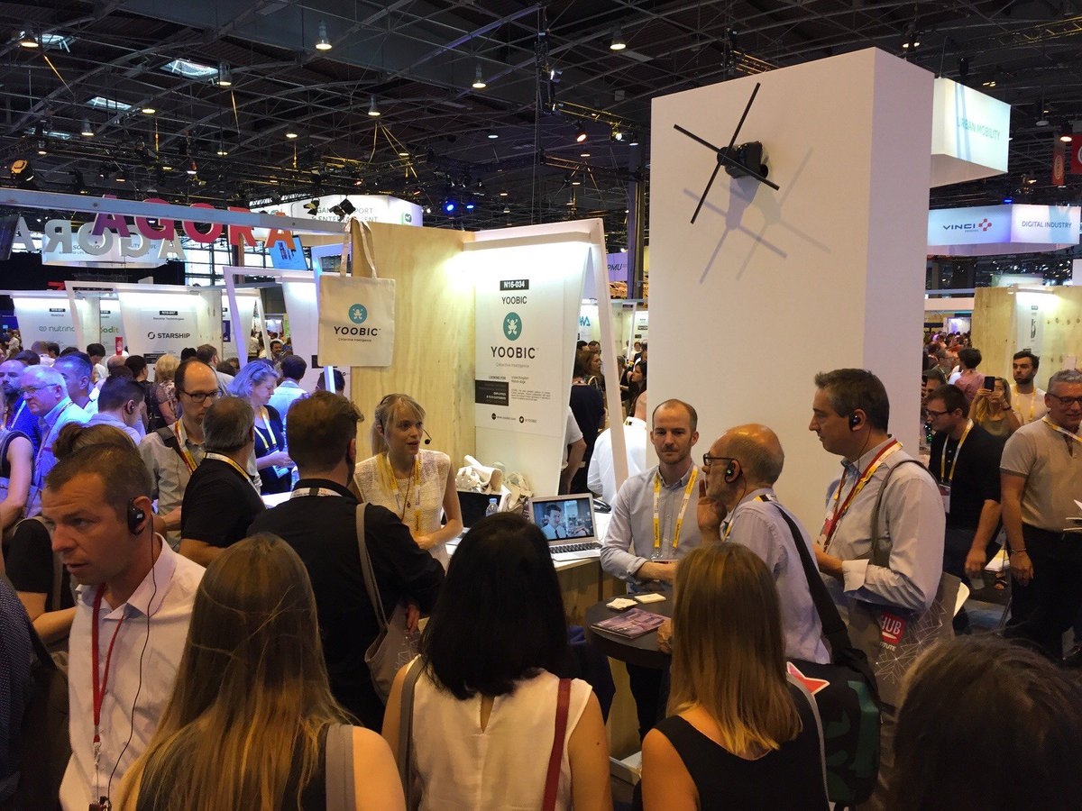 It&#39;s busy on @YOOBIC booth! Come and meet us on #Carrefour lab! #VivaTech2017 #VivaTechnology<br>http://pic.twitter.com/eXUrin7jjC