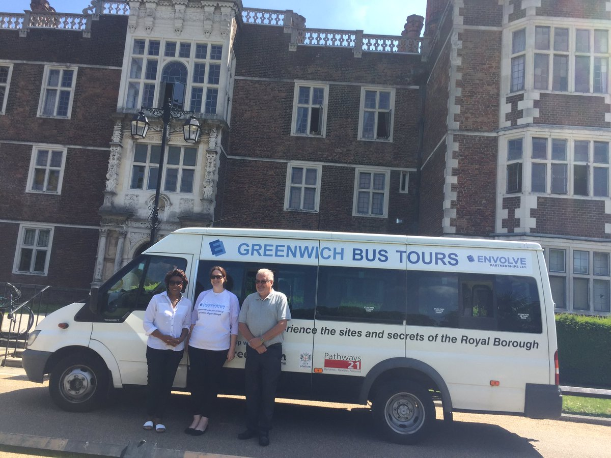 We're at the launch of Greenwich bus tours. First stop is @charlton_house